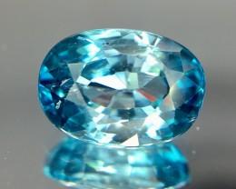 3.05 Crt Blue Zircon Faceted Gemstone (R 172)