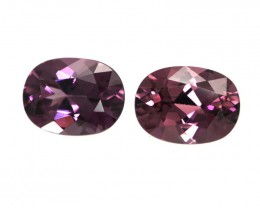 3.16cts Natural Rhodolite Garnet Matching Oval Cut