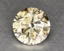 0.21 Cts Natural Yellowish Grey Diamond Round Africa