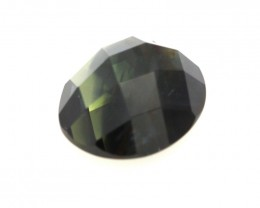 2.96cts Natural Australian Blue Parti Sapphire  Oval Checker Board