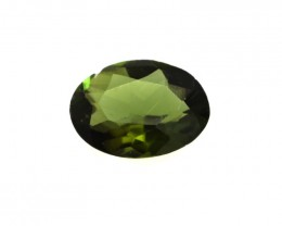 0.63cts Natural Green Tourmaline Oval Cut