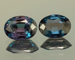 0.90 CT ULTRA RARE !! BLUISH GREEN NATURAL ALEXANDRITE PAIR
