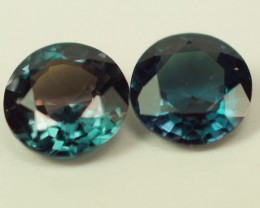 0.34 CT BEAUTIFUL BLUISH GREEN NATURAL  ALEXANDRITE PAIR