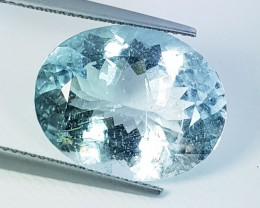 "12.24 ct ""IGI Certified "" Fantastic Oval Cut Natural  Aquamarine"