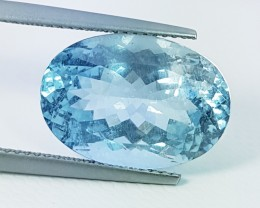 "9.34 ct ""IGI Certified "" Awesome Oval Cut Natural Aquamarine"
