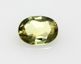0.62cts Natural Australian Yellow Sapphire Oval Shape