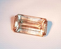 "5.39 ct ""IGI Certified "" Rare Gem Emerald Cut Natural Color Chang"