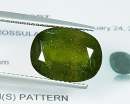"8.75 CT Awesome Green ""IGI Certified' Natural Hydrogrossular Garnet"