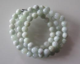 VERY NICE CERTIFIED UNTREATED  JADE NECKLACE 51cm