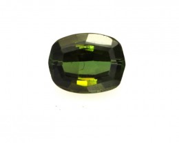 0.65cts Natural Green Tourmaline Cushion Cut