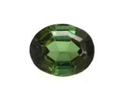 0.54cts Natural Green Tourmaline Oval Cut