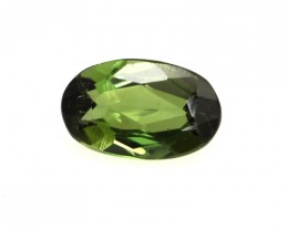 0.61cts Natural Green Tourmaline Oval Cut