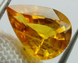 Natural Orangey Yellow Sapphire  - 2.45 ct - IGE Certified