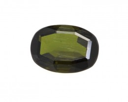 0.96cts Natural Green Tourmaline Oval Cut