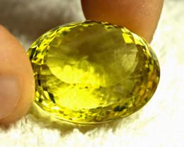 68.10 Carat Vibrant Yellow African VVS Lemon Quartz - Gorgeous