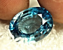 CERTIFIED - 14.88 Carat London Blue VVS Zircon - Gorgeous