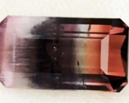RARE Magnificient 5.7ct Distinct Color Split Tri- Color Tourmaline TH4 G559