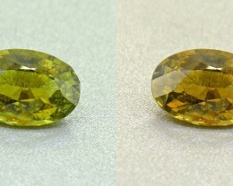 Untreated  Alexandrite 2.24 Ct. Certified Ceylon Olive Green (00419)
