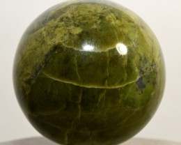 51mm Green Yellow Serpentine Sphere Polished Crystal Mineral Peru SE-PA146