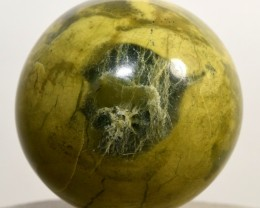 53mm Green Yellow Serpentine Sphere Natural Crystal Mineral Peru STSE-PA147