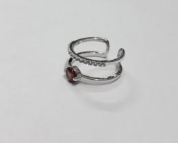 Garnet 925 Sterling silver ring #623