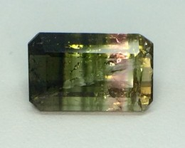 6.94 Crt Natural Watermelon Tourmaline Faceted Gemstone (984)