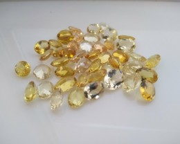 55 cts of Oval Golden Beryl/Heliodor Gems - Natural, Untreated