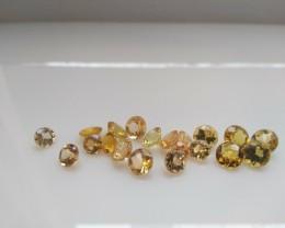 15 cts of Round Golden Beryl / Heliodor - Natural, Untreated Gemstones