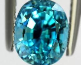3.91ct Marvellous Caribbean Blue Natural Cambodian Zircon