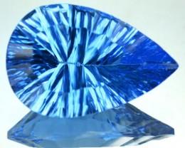 PRECISION CUT 4.83 Cts Natural Blue Topaz Pear Brazil Gem