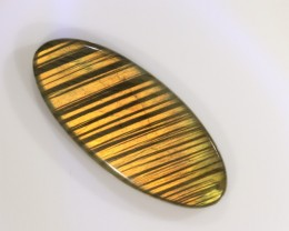 28ct 38x17mm Natural Labradorite - Amazing gold color