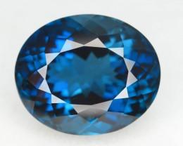 Top Color 18.50 ct Natural London Blue Topaz SKU.1