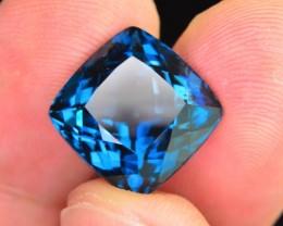 Top Color 12.75 ct Natural London Blue Topaz SKU.1