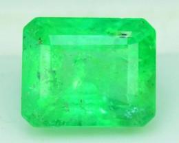 Certified 1.335 cts Asscher Cut Nautral Colombian Emerald Gemstone