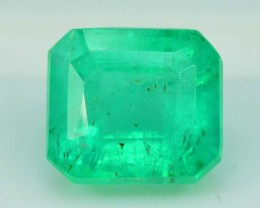 1.55 cts Super Quality Asscher Cut Untreated Colombian Emerald Gemstone
