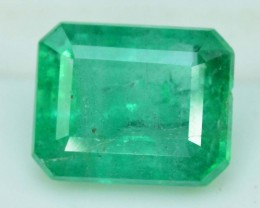 1.25 cts  Super Top Quality Emerald Cut Untreated Colombian Emerald Gemston