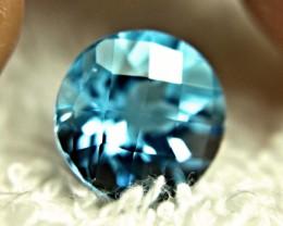 6.65 Carat Round VVS1 Blue Brazil Topaz - Gorgeous