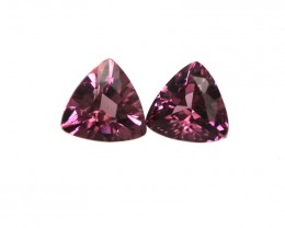 0.61cts Natural Rhodolite Garnet Trillion Cut