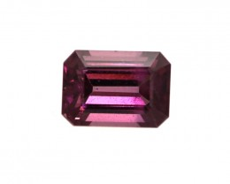 1.29cts Natural Rhodolite Garnet Emerald Cut