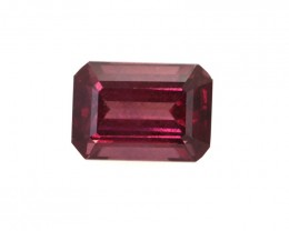 1.51cts Natural Rhodolite Garnet Emerald Cut