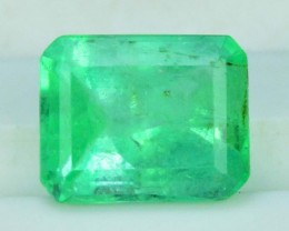1.50 cts Super Quality Asscher Cut Untreated Colombian Emerald Gemstone