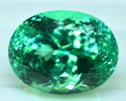 23.70 cts Oval Cut Lush Green Spodmuene Gemstone From Afghanistan