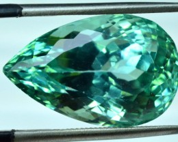 16.90 cts Pear Cut Lush Green Spoudmene Gemstone From Afghanistan
