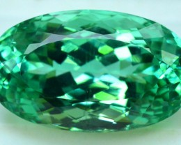 21.80 cts Oval Cut Lush Green Spodumene Gemstone From Afghanistan