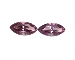 1.72cts Natural Rhodolite Garnet Matching Marquise Cut