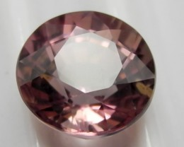 'AAA'  SUPERB MASTERCUT 1.60CT PEACH PINK ROUND TOURMALINE
