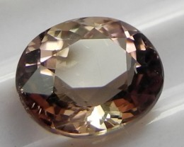 'AAA'  SUPERB MASTERCUT 1.72CTS  PEACH PINK OVAL TOURMALINEAL