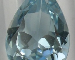 GORGEOUS PENDANT SIZE GEM - 6.35CT BLUE TOPAZ PEAR SHAPED GEMSTONE!!