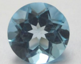 GORGEOUS  7mm  SWISS BLUE TOPAZ ROUND SHAPED GEMSTONE!!