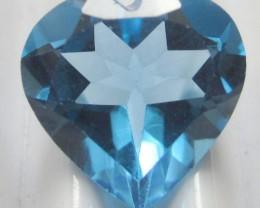 GORGEOUS RING/ PENDANT SIZE GEM - 3.86CT BLUE TOPAZ HEART SHAPED GEMSTONE!!